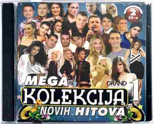 2CD GRAND MEGA KOLEKCIJA NOVIH HITOVA 1 compilation 2016 manojlovic hasic bekic