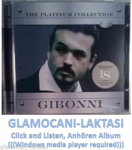 CD GIBONNI  THE PLATINUM COLLECTION 2007 serbia bosnia croatia city records