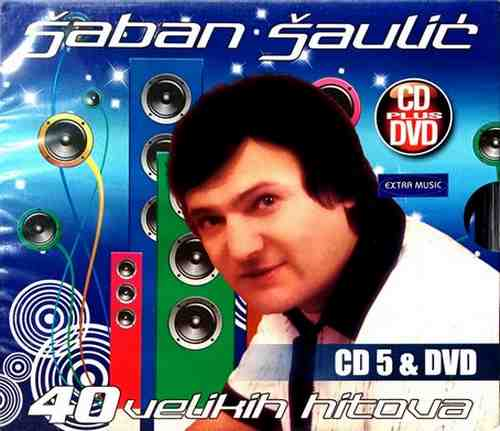 CD+DVD SABAN SAULIC 40 VELIKIH HITOVA 3 kompilacija 2015 folk saban saulic