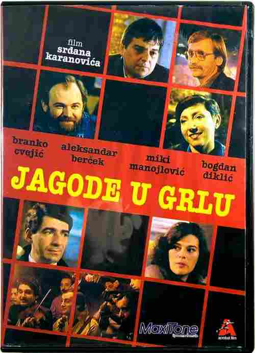 DVD JAGODE U GRLU Strawberries In The Throat Srdjan Karanovic Bercek Diklic Miki