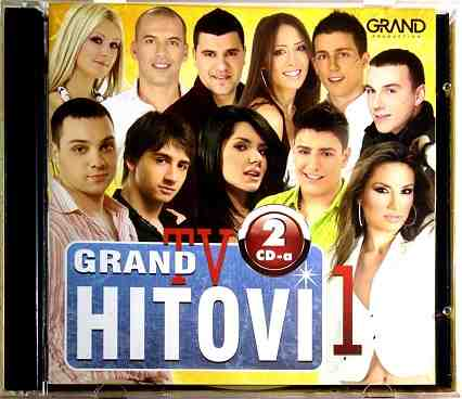 2CD GRAND TV HITOVI 1 compilation 2016 narodna folk srbija hrvatska bosna balkan