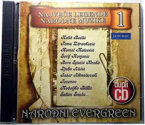 2CD NARODNI EVERGREEN  NAJVECE LEGENDE NARODNE MUZIKE Bosnian Croatian  Serbian