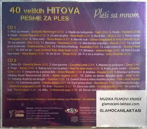 2CD 40 VELIKIH HITOVA PESME ZA PLES compilation 2017 josipa lisac tajci film