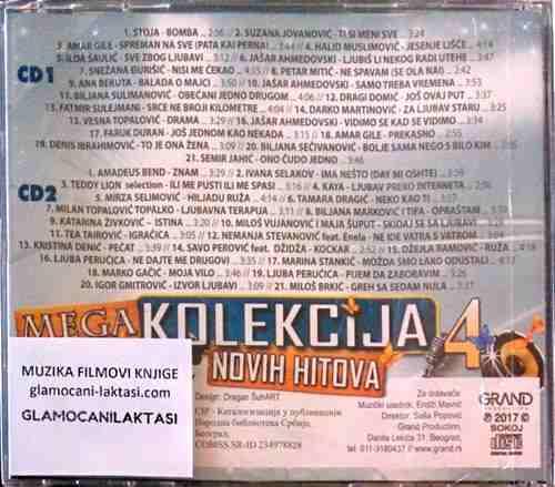 2CD MEGA KOLEKCIJA NOVIH HITOVA 4 GRAND compilation 2017 stoja bekuta perucica