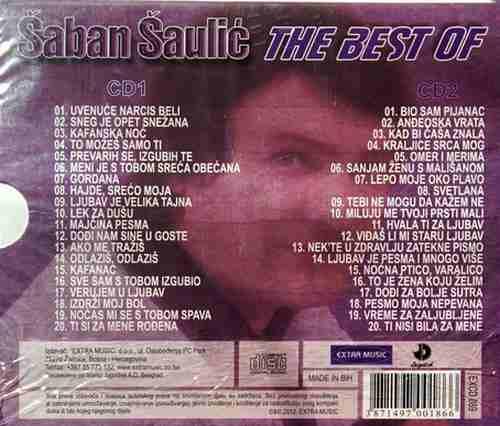 2CD SABAN SAULIC DOBA NAJVECIH HITOVA kompilacija 2012 folk saban saulic narodna
