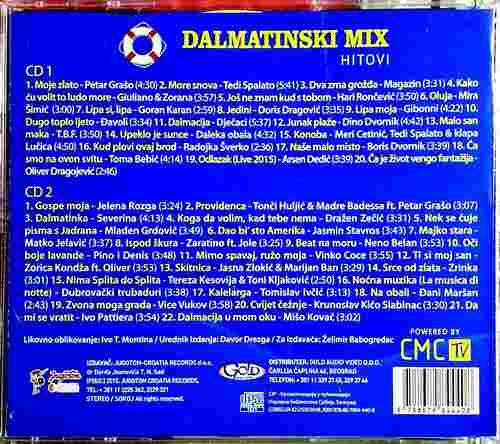 CD DALMATINSKI MIX HITOVI compilation 2015