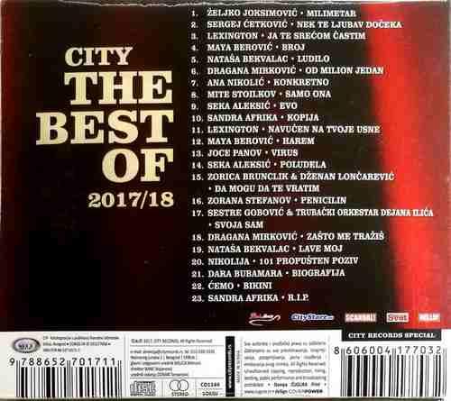 CD CITY RECORDS THE BEST OF 2017/2018 joksimovic nikolija mirkovic cetkovic