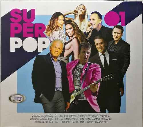 CD CITY RECORDS SUPER POP COMPILATION 2017 joksimovic lexington nikolija aleksic