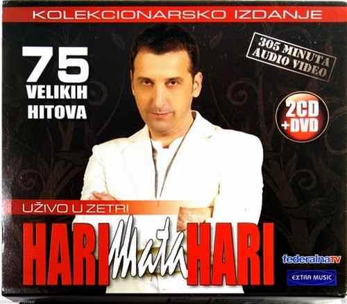 2CD+DVD HARI MATA HARI UZIVO U ZETRI 75 VELIKIH HITOVA compilation 2010