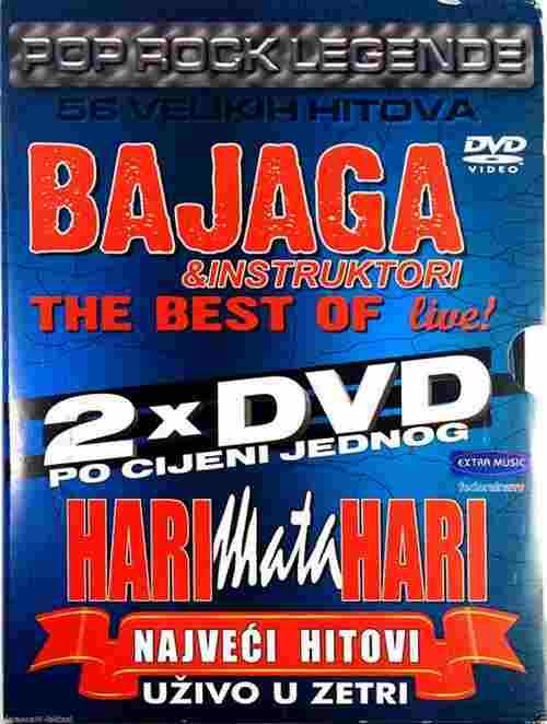 2DVD BAJAGA&INSTRUKTORI THE BEST OF LIVE HARI MATA HARI NAVECI HITOVI LIVE ZETRA