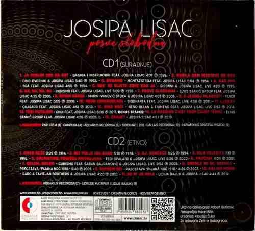 2CD JOSIPA LISAC POSVE SLOBODNA SURADNJE I ETNO 26 PJESAMA CROATIA RECORDS