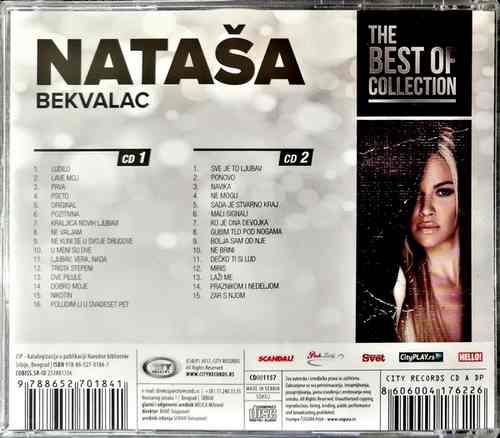 2CD NATASA BEKVALAC THE BEST OF COLLECTION kompilacija 2017 city records srbija