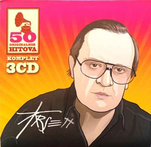 3CD ARSEN DEDIC 50 ORIGINALNIH HITOVA digipak gold audio video dedic srbija yu
