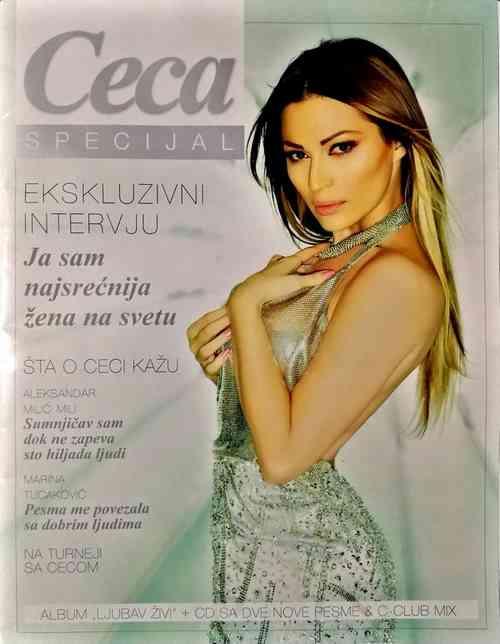 KOMPLET CECA SPECIJAL 2012 CASOPIS CD LJUBAV ZIVI I CD C CLUB MILIGRAM SRBIJA