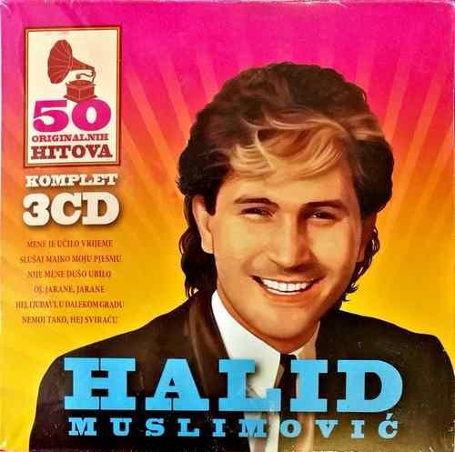 3CD HALID MUSLIMOVIC 50 ORIGINALNIH HITOVA FOLK CARDBOARD KARTONSKO PAKOVANJE