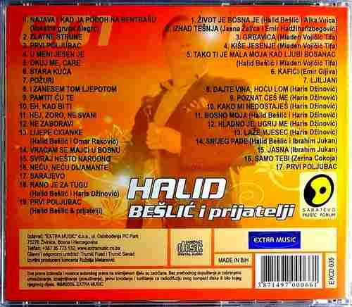 2CD HALID BESLIC I PRIJATELJI UZIVO ZETRA SARAJEVO NARODNA EXTRA MUSIC BOSNA