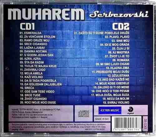 2CD MUHAREM SERBEZOVSKI 39 VELIKIH HITOVA EXTRA MUSIC COMPILATION 2012 NARODNA
