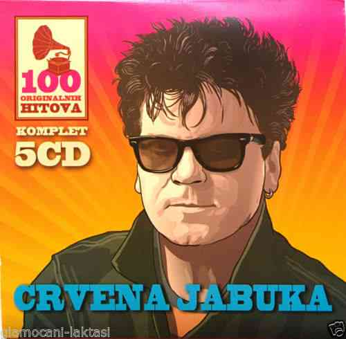 5CD CRVENA JABUKA 100 ORIGINALNI?H HITOVA compilatio?n 2015 digipak gold audio