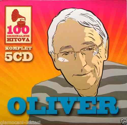 5CD OLIVER DRAGOJEVIC  100 ORIGINALNI?H PJESAMA compilatio?n 2015 digipak gold
