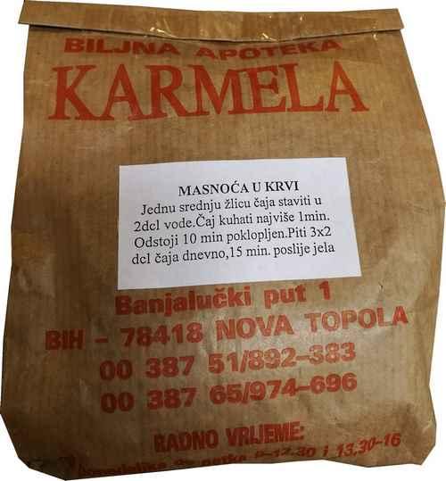 Caj za smanjenje masnoca u krvi Biljna Apoteka Karmela 100 grama