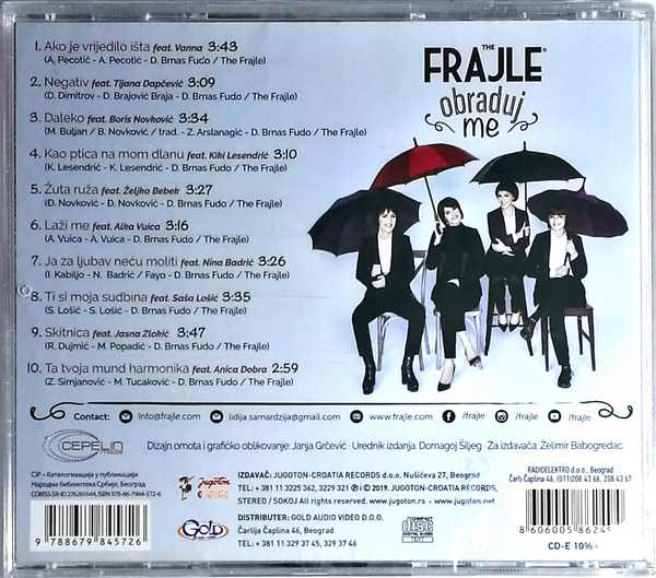 CD THE FRAJLE OBRADUJ ME ALBUM 2019