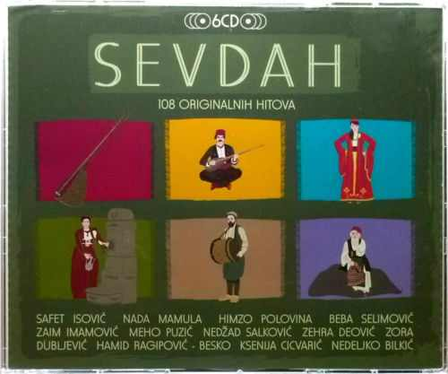 6CD SEVDAH  108 ORIGINALNIH HITOVA compilation 2013 croatia records etno