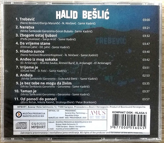 CD HALID BESLIC TREBEVIC ALBUM 2020