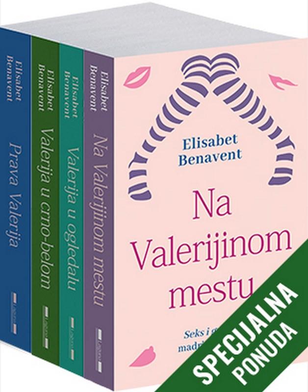 Komplet - Saga o Valeriji  Elisabet Benavent  knjiga 2020 Ljubavni