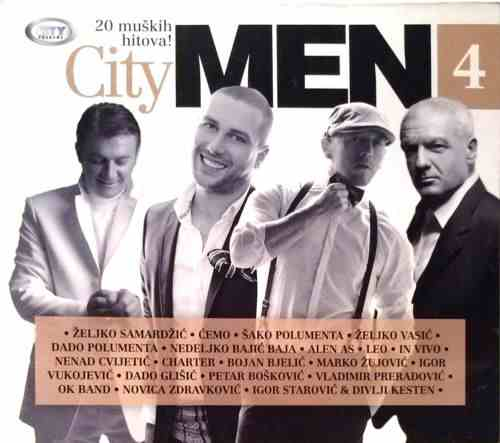 CD CITY MEN  VOL.4 Compilation 2014 City records Serbia Bosnia Croatia