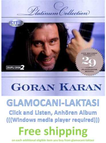 2CD GORAN KARAN  PLATINUM COLLECTION 2009 srpska bosna hrvatska muzika digipak