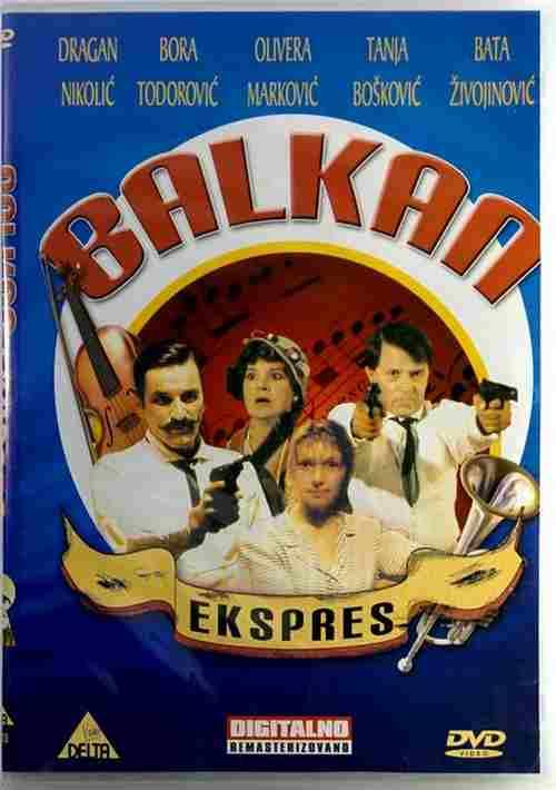 DVD BALKAN EKSPRES film Branko Baletic The Balkan Express Bata Zivojinovic movie