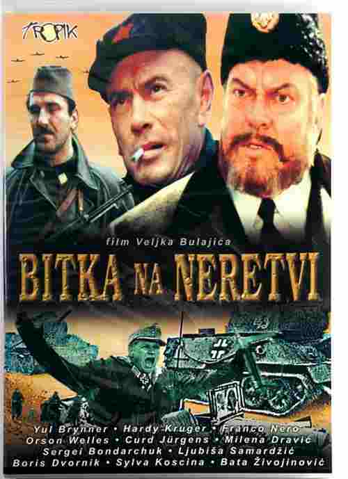 DVD BITKA NA NERETVI film Veljko Bulajic The Battle of Neretva Yul Brunner