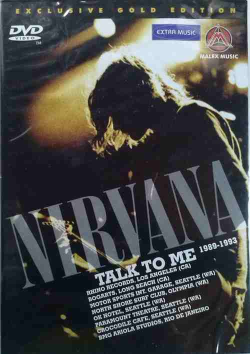 DVD NIRVANA TALK TO ME 1989 1993 exclusive gold edition 2007 kurt cobain grohl