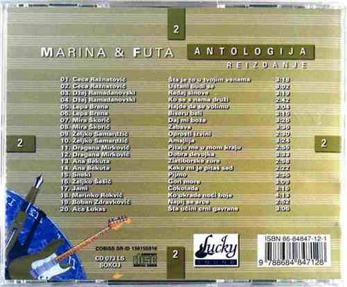CD MARINA TUCAKOVIC & ALEKSANDAR RADULOVIC FUTA ANTOLOGIJA REIZDANJE 2