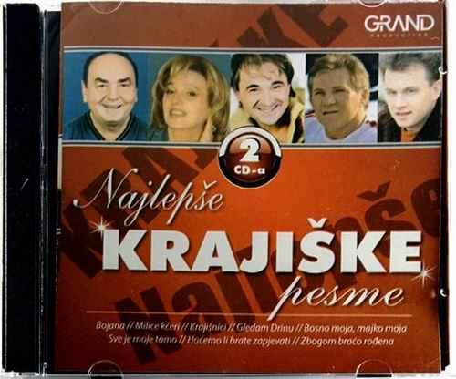 2CD NAJLEPSE KRAJISKE PESME compilation 2016 bora drljaca cana jandrino jato
