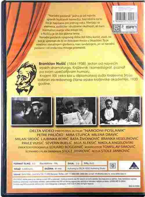 DVD NARODNI POSLANIK film Branislav Nuši? Mira Stupica Milena Dravic Bata Zivojinovic