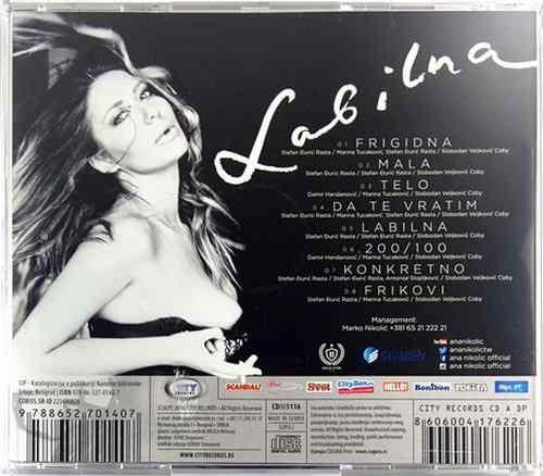 CD ANA NIKOLIC LABILNA album 2016