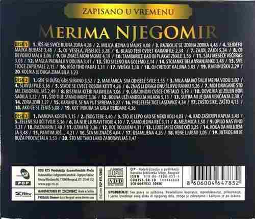 3CD MERIMA NJEGOMIR ZAPISANO U VREMENU compilation 2008 PGP RTS srbija narodna