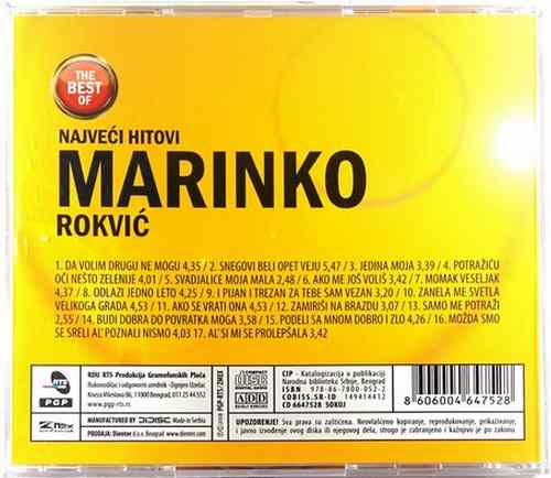 CD MARINKO ROKVIC NAJVECI HITOVI THE BEST OF compilation 2008 srbija bosna folk