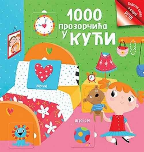 1000 PROZORCICA U KUCI knjiga za decu 2016 Slikovnice otkrij reci srbija bosna