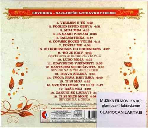 CD SEVERINA THE LOVE COLECTION ja samo pjevam mili moj dalmatinka balkan 2010