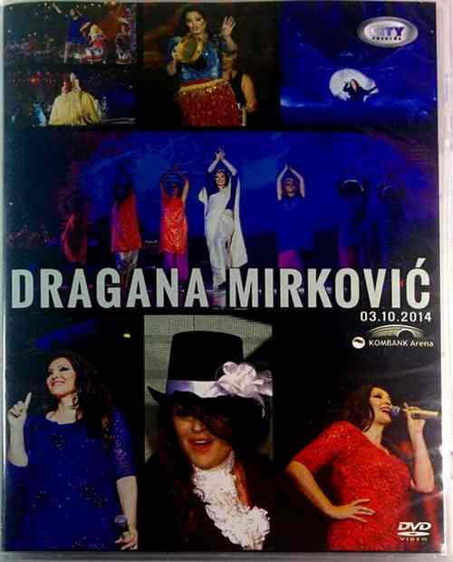 2DVD DRAGANA MIRKOVIC KONCERT U KOMBANK ARENI 03.10.2014 city records 2016 folk