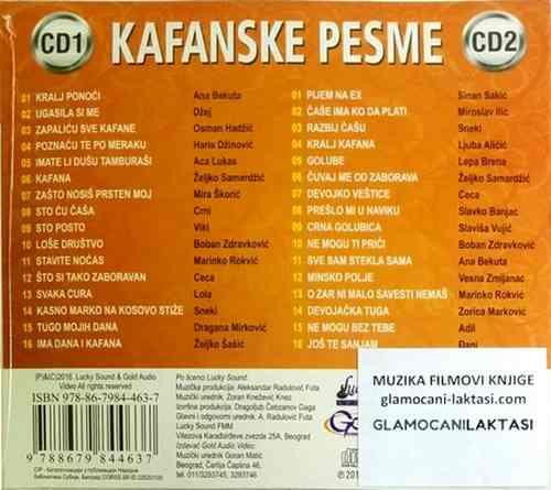 2CD KAFANSKE PESME compilation 2016 dzej sneki bekuta lukas ceca adil đani brena