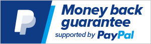 Money Back Guarantee: Covered by PayPal Money Back Guarantee